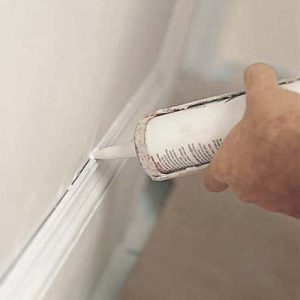 how to caulk cracked walls